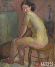 Falk Robert. Female Nude Sitting on a Stool. 1935