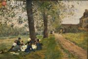 Firmin-Girard François-Marie. Le Déjeuner sur l'herbe. 1860s
