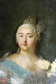 Portrait of Empress Elizabeth (Elizaveta Petrovna). First half of the 18th centu