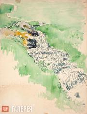 Якунчикова Мария. Водопад. 1898