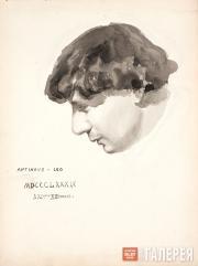 Якунчикова Мария. Мужской портрет (Л.Н. Вебер?). 1889