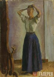 Favorsky Vladimir. Maria Favorskaya at the Mirror. 1912