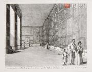 Unknown artist. Inside the Gallery Building in the former Stable Yard. 1830