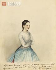 Unknown artist. Portrait of Maria Kushnikova. 1849