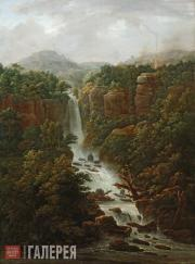 Matveyev Fyodor. Waterfalls of the Pope's Palace in the Environs of Rome. 1818