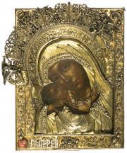 Неизвестный художник. Икона «Богоматерь Корсунская». XVII–XVIII вв.