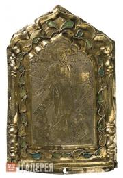 "Drobnitsa (small golden or silver plate for decorating icons) ""The Saviour of Sm"