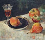 Ланг Евгения Александровна. Натюрморт с персиком. 1960-е