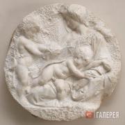 Микеланджело Буонарроти. Мадонна с младенцами Иисусом и Иоанном Крестителем. Око