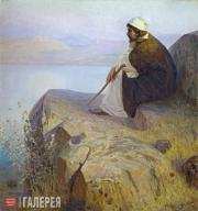 Polenov Vasily. Dreams (On the Hill). Second half of the 1890s-1900s