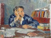 Ulyanov Nikolai. Pushkin at His Writing Desk. 1936-1949
