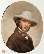 Unknown artist (Sergei Chirikov?). Alexander Pushkin. Mid-1810s