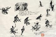 Габриадзе Реваз (Резо). Лист из серии «А.С. Пушкин». 1991