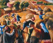 Уборка хлеба в горах (Сбор кукурузы). 1932