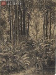 Shishkin Ivan. Ferns in a Forest. 1877