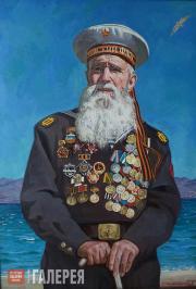 Stronsky Pyotr. Portrait of Marines Veteran Georgy Shirokov. 2014