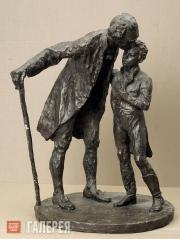 Glickman Gavriil. Alexander Pushkin and Gavriil Derzhavin. 1958
