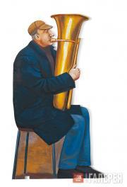 Назаренко Татьяна. Уличный музыкант. Фигура из серии «Переход». 1995–1996