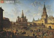 Alexeev Fyodor. The Red Square in Moscow, 1801