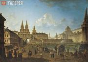 Alexeev Fyodor.View of the Voskresenskie  and Nikolskie Gates and the Neglinnaya