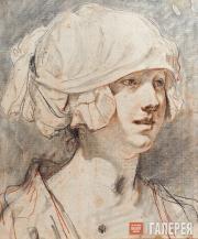 Jean-Baptiste Greuze. Portrait of Anne-Gabrielle Babuty. 1760s