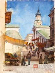 Geftler Karl. Venice. Rialto Bridge. 1890s