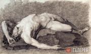 Александр Иванов. Натурщик лежащий. 1820–1821