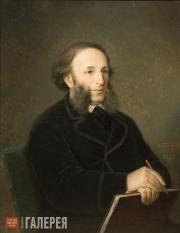 Bolotov Dmitry. Portrait of the Artist Ivan Aivazovsky (with a folder). 1876