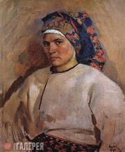 Яблонская Татьяна Ниловна. Автопортрет в украинском костюме. 1946