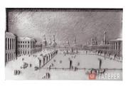 И.П.КАЗАНСКИЙ, Н.М.КАЗАНСКАЯ (НЕЗЛОБИНА). Театральная площадь Москвы в середине