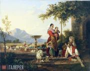 Щедрин Сильвестр Феодосиевич. Семья итальянского пастуха. Ок. 1822
