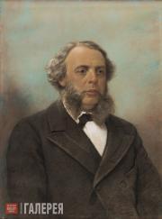 Unknown artist. Portrait of Vasily Yakunchikov. 1860–1870s