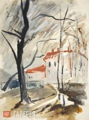 Mavrina Tatyana. House with a Red Roof. Late 1920s