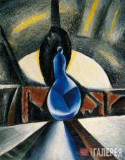 Н.И.АЛЬТМАН. Натюрморт с синим графином. 1912