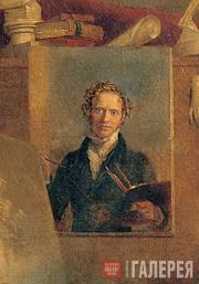 Вильгельм Август Голике. В мастерской художника. 1832. Фрагмент