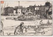 Whistler James McNeill. Black Lion Wharf. 1859
