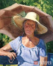 Андрияка Сергей. Портрет с зонтиком. 1996