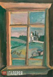 Н.И. Андронов. Окно. Вид на монастырь. Ферапонтово. 1998
