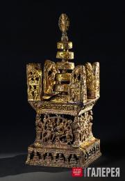 Позолоченная свинцовая ступа императора Ашоки