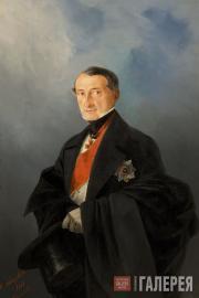 Aivazovskiy Ivan. Portrait of Senator Alexander Kaznacheyev. 1848