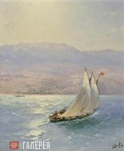 Aivazovskiy Ivan. The Crimea. A Seaside View of Alupka. 1890