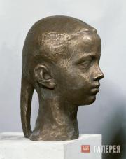 А.А. Бичуков. Портрет девушки с косой. 1993