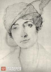 Léon BAKST. Portrait of Alice Garrett. 1910s
