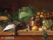 Khrutsky Ivan. Dead Game, Vegetables and Mushrooms. 1854