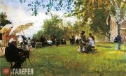 Repin Ilya. At the Academy (Academicheskaya) Dacha. 1898