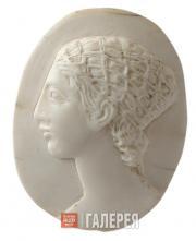 А.С. ГОЛУБКИНА. Женская голова с прической в сетке. 1920-е