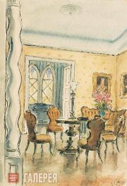 Doboujinsky Mihail. The Interior. 1933
