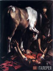 Caravaggio (Michelangelo Merisi da Caravaggio). The Conversion of Saul. 1600-160