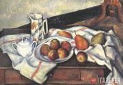 Сезанн Поль. Сахарница, кувшин и тарелка с фруктами. 1888–1890