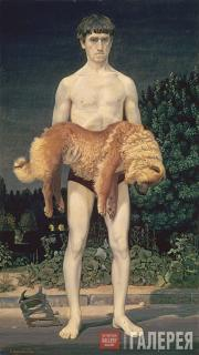Жилинский Дмитрий. Человек с убитой собакой. 1976